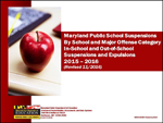 Maryland Public School Suspensions By School and Major Offense Category In-School and Out-of-School Suspensions and Expulsions 2