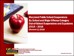 Maryland Public School Suspensions By School and Major Offense Category Out-of-School Suspensions and Expulsions 2015 - 2016