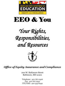 EEO & You Your Rights, Responsibilities, and Resources publication