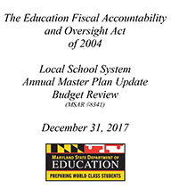 2017 Review of Local School System Master Plans December 2017