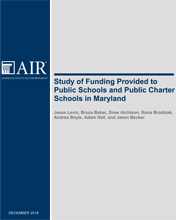 Study of Funding Provided to Public Schools and Public Charter Schools in Maryland December 2016​