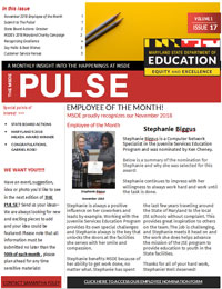 The MSDE Pulse A Monthly Insight in The Happenings at MSDE Winter 2018 Volume 1 Issue 17