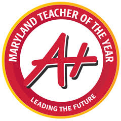 Maryland Teacher of the Year. Educating the Future logo