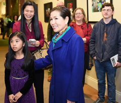 Maryland First Lady Yumi Hogan honored public school student artists in Annapolis on Friday, March 4.