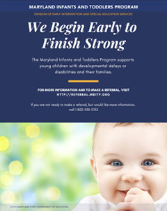 Maryland Infants and Toddlers Program (MITP) We Begin Early to Finish Strong
